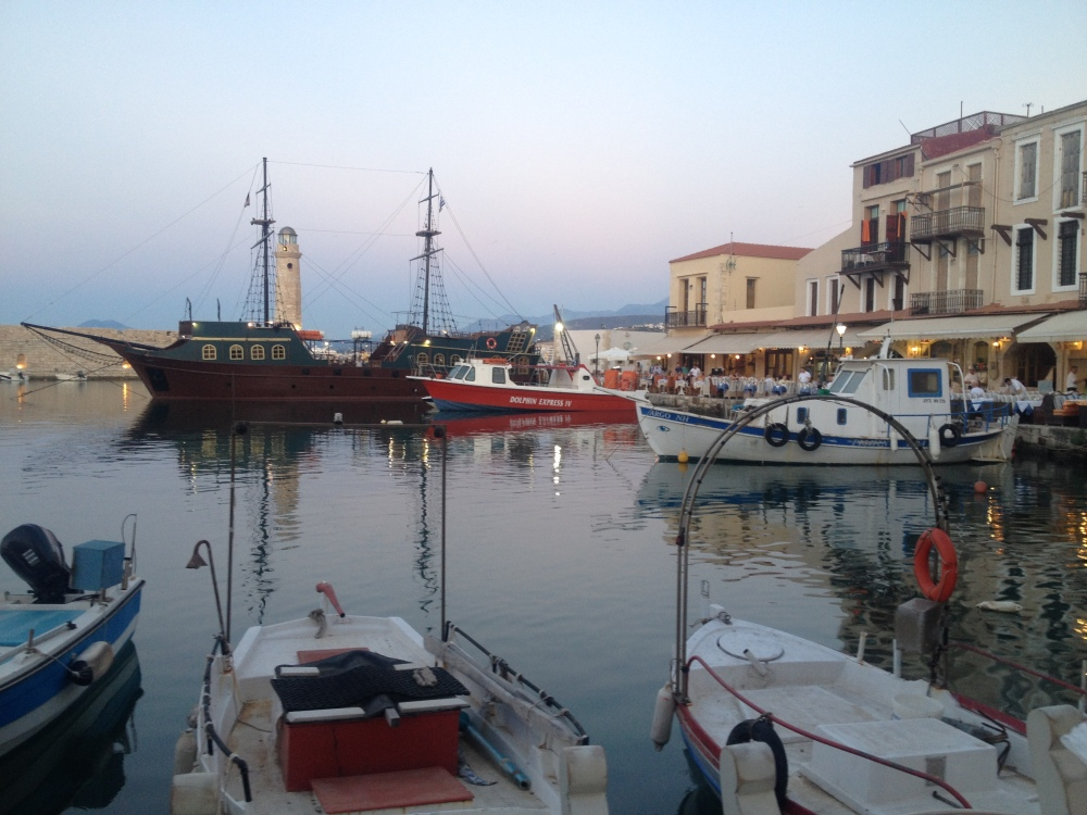 Boats In The Port Of Rethymnon, Crete